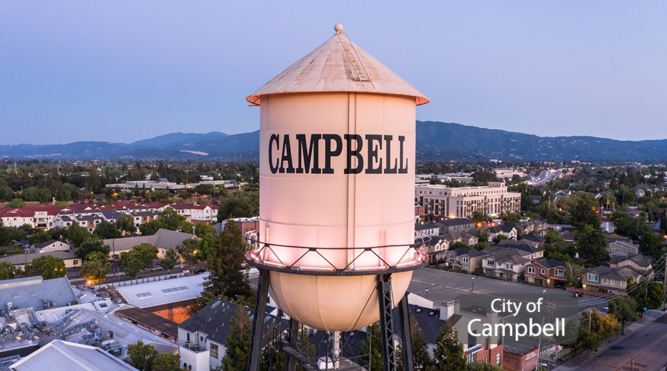 City of Campbell Water Tower